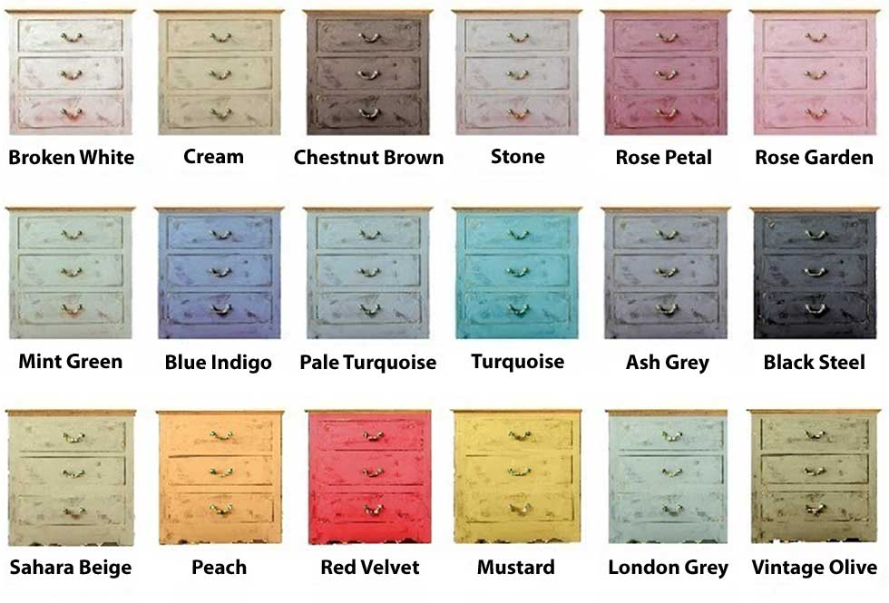 Two Colors Of Chalk Paint